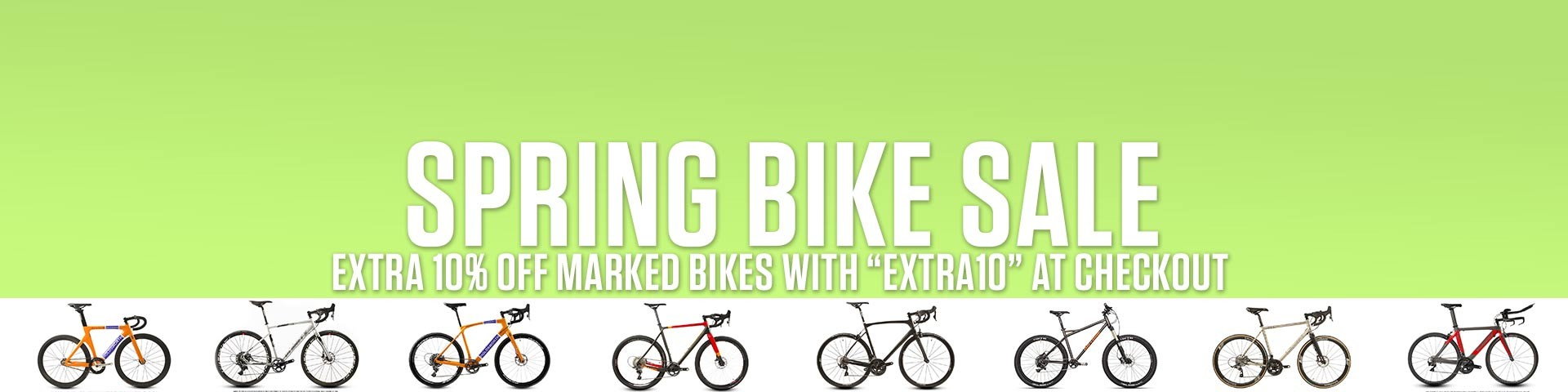 Extra 10% off Marked Bikes
