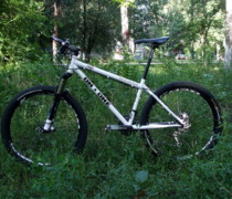 White-Black bike photo
