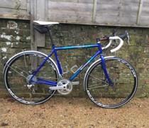 Blue bike photo
