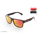 Carnac RSF Sunglasses / Black and Red / Flash Mirror Red