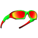 Power Race Maverick Hydrophobic Cycling Glasses / Fluo Green / Red Revo