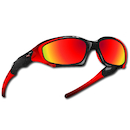 Power Race Maverick Hydrophobic Cycling Glasses / Red and Black / Red Revo