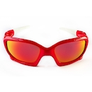 Power Race Maverick Hydrophobic Cycling Glasses / Red and White / Red Revo
