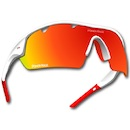 Power Race Mirage Cycling Glasses / White and Red / Red Polarized / 3 Lenses