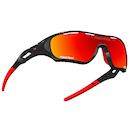 Power Race Star Fighter Hydrophobic Cycling Glasses / Black and Red / Red Revo