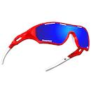 Power Race Star Fighter Hydrophobic Cycling Glasses / Red Ferrari / Blue Revo