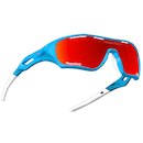Power Race Star Fighter Hydrophobic Cycling Glasses / Light Blue and Red / Red Revo