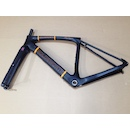 Holdsworth Mystique Carbon Gravel Frameset / 49cm X Small / Black And Orange / Used - Cosmetic Damage