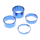 On-One Spacer Set 20+15+10+5 / 1 1/8 inch / Anodised Blue