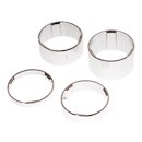 On-One Spacer Set 20+15+10+5 / 1 1/8 inch / Hi Polished Silver