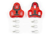 Riva Sport Red Black Look Keo Compatible ARC Cleats With Rubber Antislip