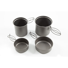 Jobsworth Titanium 4 Piece Pot Set With Frying Pans