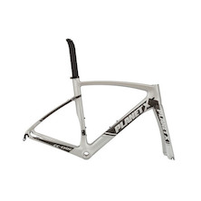 Planet X EC-130E Rivet Rider Carbon Aero Road Frameset / Large / Silver Shadow (Scratch on seatpost and bad paint around BB)