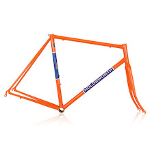 Holdsworth Super Professional Reynolds 753 Steel Road Frameset / Large / Orange & Blue (Chip On Non Drive Side Seatstay)