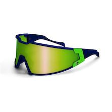 Briko Shot Evo Glasses / Blue / Green / Nastek Emerald (Cosmetic Damage)
