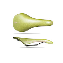 Selle Esse Italiana Vela Ltd Edition Leather Saddle / INOX Rails / Apple Green (Cosmetic Damage)