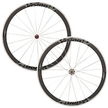 Vision Trimax T42 Alloy Carbon Clincher Road Wheelset / Grey / Shimano/SRAM 10/11sp / Used