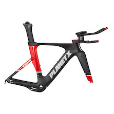 Planet X Exo3 Carbon TT Frameset / Small / Black And Red / Cosmetic Damage Around Seat Clamp