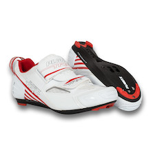 Planet X TRX Composite Triathlon Shoe / Size 42 / White And Red / Soiled