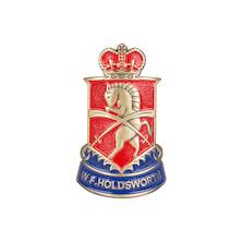 Holdsworth Brass Head Badge