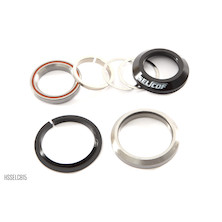 Selcof Integrated Cup Angular Contact Cartridge Bearing Headset For Tapered 1 1/8th  1.5 Fork Steerer