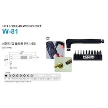 Hozan W-81 Hex Lobular Wrench Set