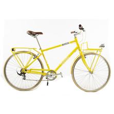 Taroka Yellow Touring Bike 7 Speed Front And Rear Rack / Large