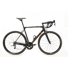 Holdsworth Super Professional Carbon Force22 Road Bike / 54cm Medium / Black And Orange With Team 35  EX TEAM
