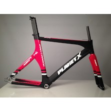 Planet X Pro Carbon Track Frameset / Large / Gloss Red / Matt Black (Cosmetic Damage)