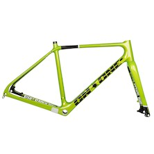On-One Bish Bash Bosh Carbon Adventure/Gravel Frameset / Small / Lemon And Lime (Cable Routing Issue)