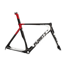 Planet X Nanolight Carbon Road Frameset / Small / Red (Bottle Cage Issue)