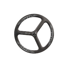 Selcof Ultra 0.3 Time Trial / Triathlon Tri Spoke Carbon Aero Front Wheel / Clincher / 1mm Out Of Tolerance