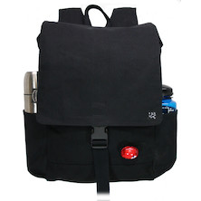 Banjo Brothers Canvas Commuter Backpack / Black / Medium / Stitching Faulty On Clasp