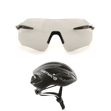 Carnac Equipe Photochromic Glasses With Carnac Notus Race Helmet