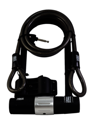 Jobsworth Be Reet BMF U Lock 180mm X 320mm With Cable