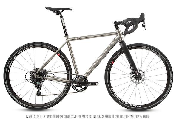 Planet X Tempest V3 Titanium Gravel Road Bike Sram Force 1 HRD 700C Wheel