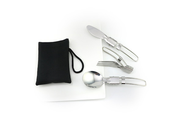 Jobsworth Stainless Steel Folding Cutlery Set Of 3