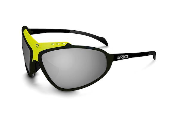 Briko Stinger Evo Glasses / Black / Yellow / Nastek Silver (Missing Lenses)