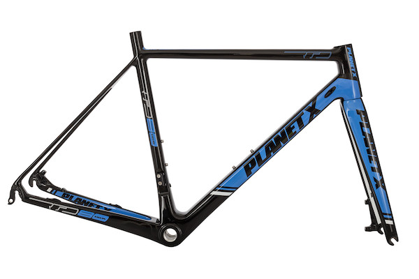 Planet X RTD-80 Carbon Road Frame / Large / Black / Sky / White - Cosmetic Damage