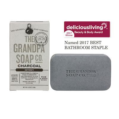 The Grandpa Soap Co Charcoal Soap Bar
