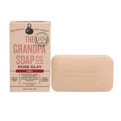 The Grandpa Soap Co Rose Clay Soap Bar