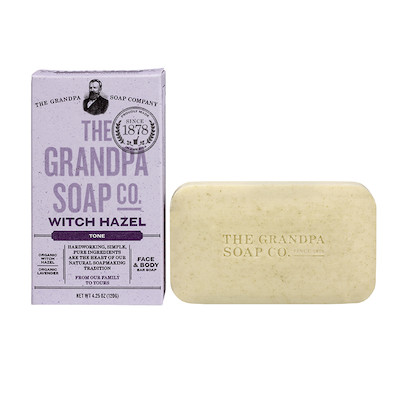 The Grandpa Soap Co Witch Hazel Soap Bar