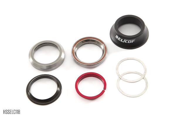 Selcof Integrated Cartridge Bearing Headset For Straight 1 1/8th Fork Steerer