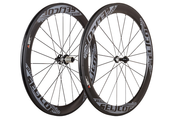 Selcof Delta 56mm  Carbon Clincher Wheelset, Tubeless Tyre Compatible