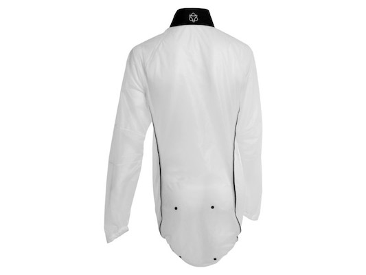 Agu Secco Womens Rain Jacket / White And Black / Small / Rear Popper Broken