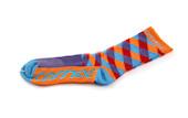 Carnac Coolmax Diamond Orange, Purple & Teal Socks