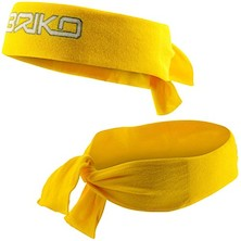 Briko Fascia Testa Terry Head Band Yellow One Size