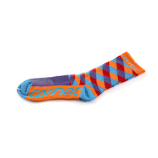 Carnac Coolmax Diamond Orange, Purple & Teal Socks
