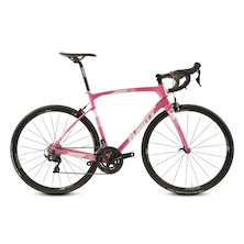 Planet X Pro Carbon EVO Shimano 105 R7000 Carbon Road Bike / Medium / Soft Pink / Paint Chip On Down Tube