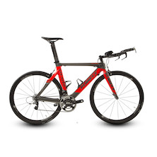 Planet X Stealth SRAM Rival 11 Time Trial Bike -  Large - Anthracite And Fluo Red